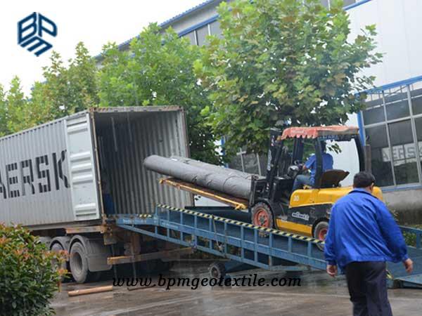 BPM PP woven geotextile loading