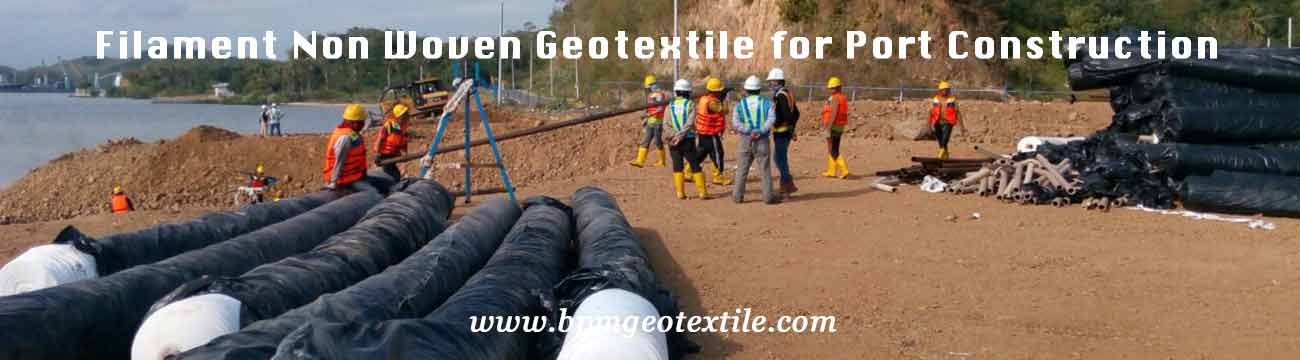 Filament Non Woven Geotextile for Port Construction