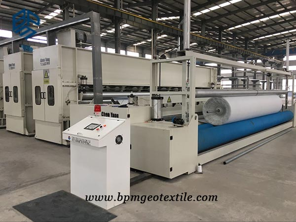 Short Fiber Needled Punched Geotextile Fabric Manufacturing Equipment