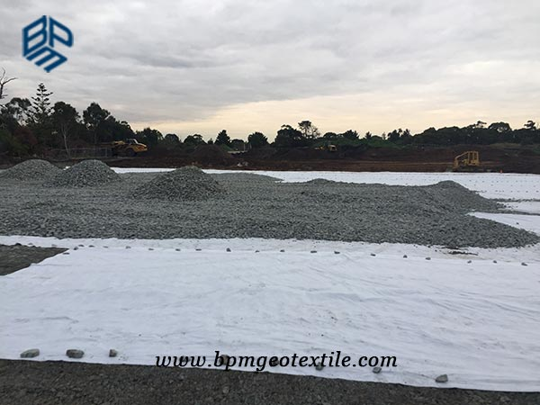 Short Staple Needled Punched Geotextile Fabric for Road Construction