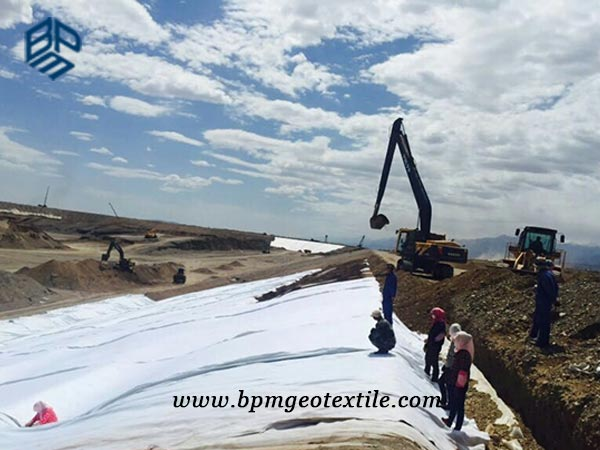 Short Staple Needled Punched Geotextile for Road Construction