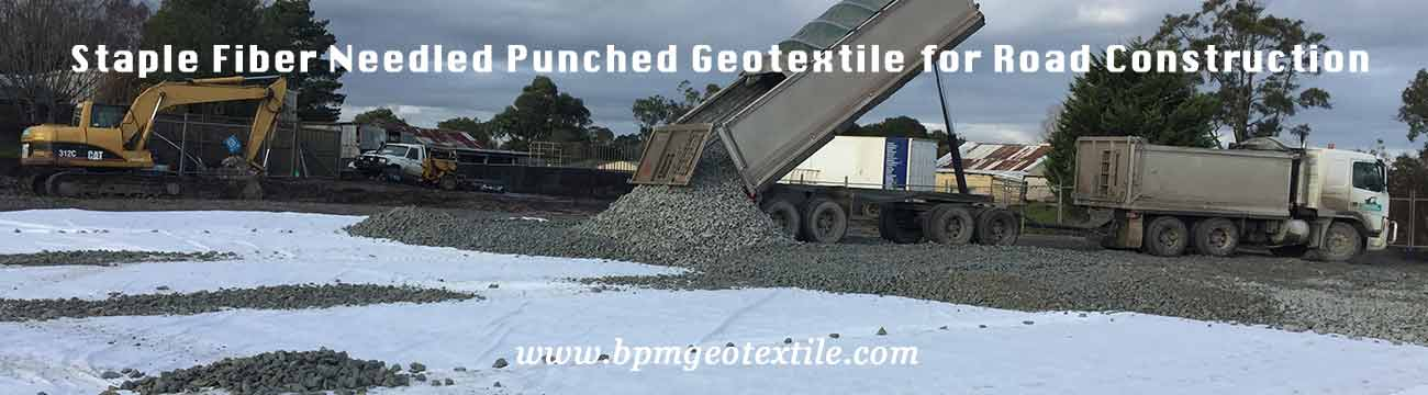 Staple Fiber Needled Punched Geotextile for Road Construction