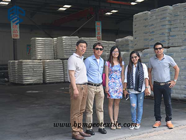 filament woven Geotextile customer