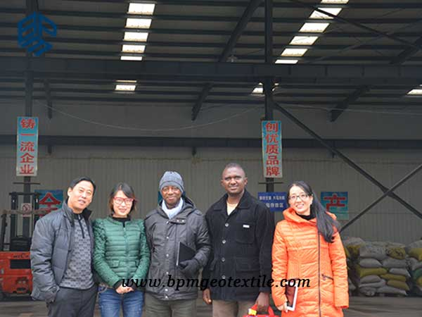 woven Geotextile customer