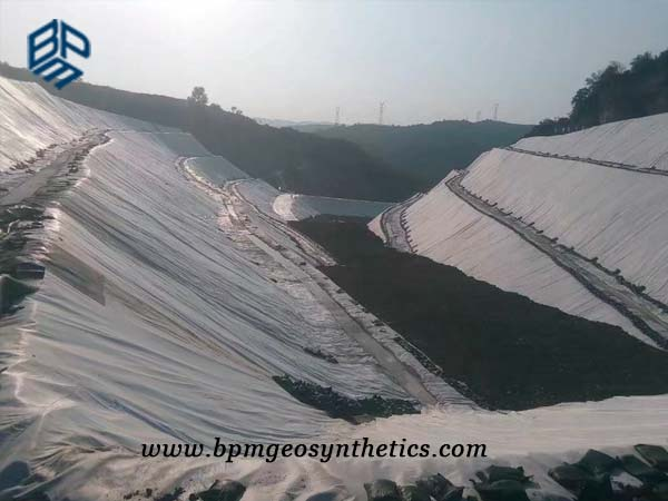 Needle Punched Geotextile sheet for Railway Tunnel Project in Longnan