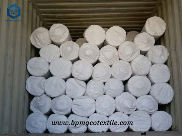 Non woven polypropylene geotextile fabric for Wooden Pool in Poland