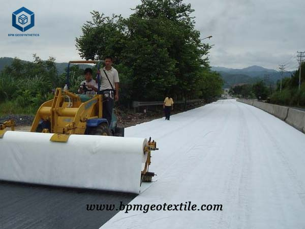 High Strength Geotextile Liner for Road Reinforcement