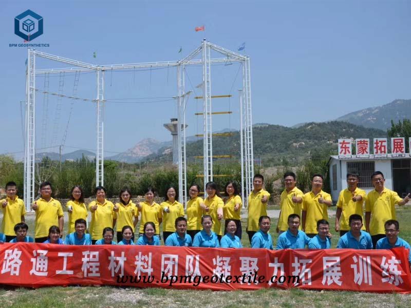 BPM non woven geotextile teamwork training