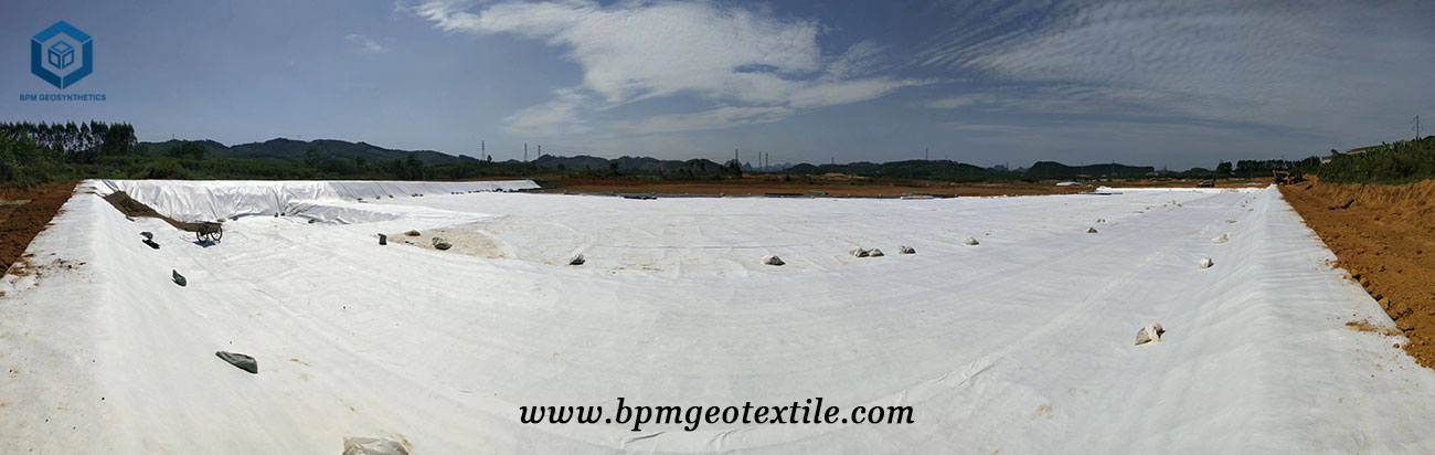 Filament Geotech Fabric for Jingzhang Railway Project in China