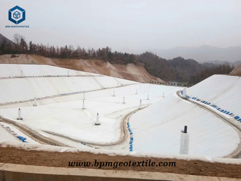 Non Woven Filament Geotech Fabric for Jingzhang Railway Project in China