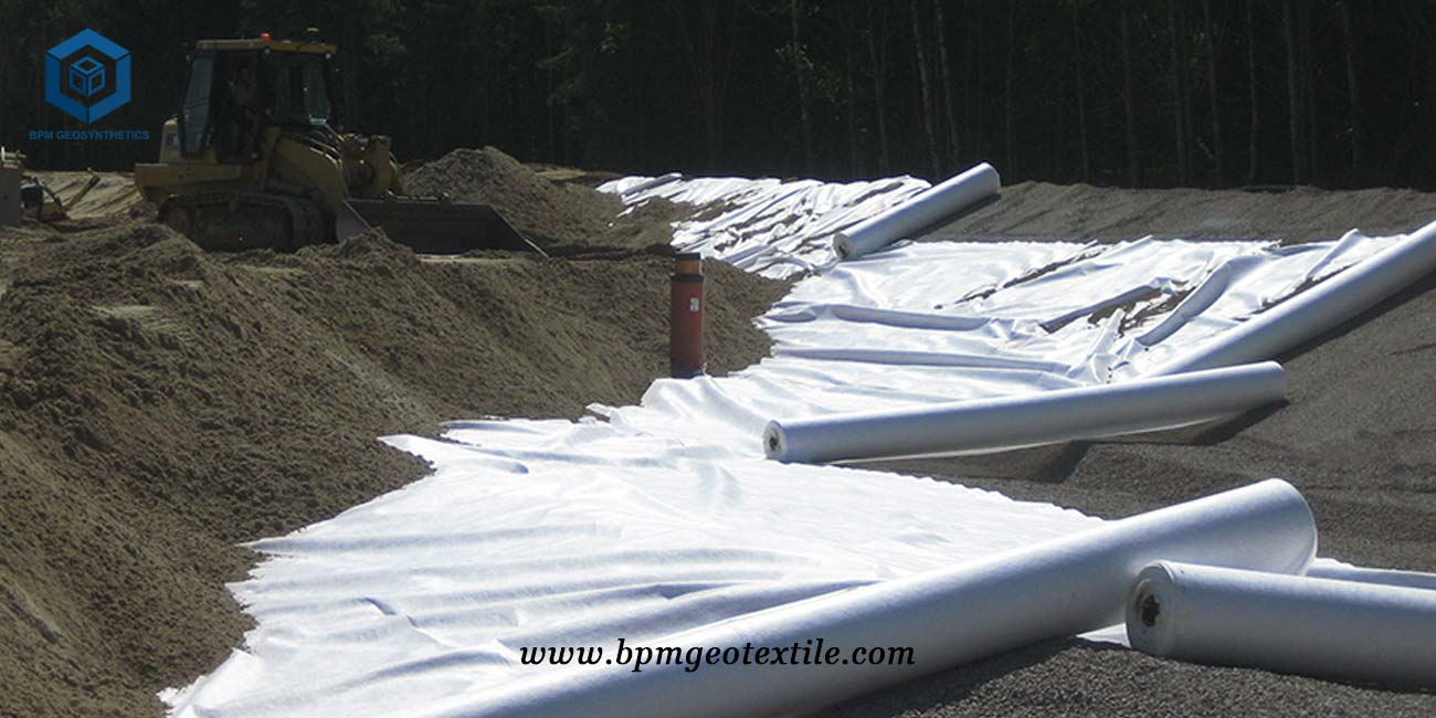 PET Non Woven Geotextiles in Road Construction Project in Sweden