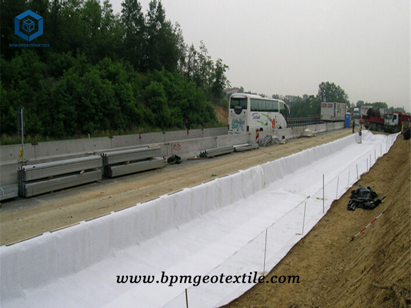 Polyester Filament Geotextile Membrane for Pavement Maintenance Project in Indonesia