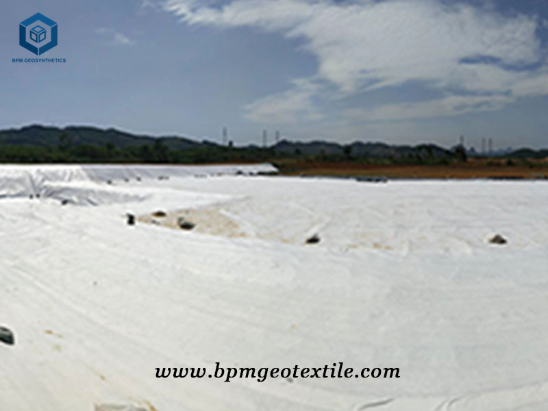 Needle Punched Non Woven Fabric for Road Project in Thailand