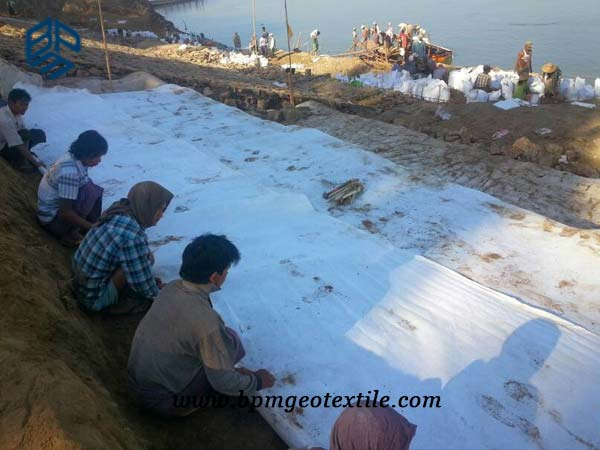 Filament Nonwoven Geotextile Cloth for Embank Reinforcement in Myanmar