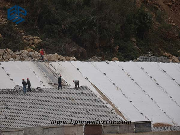 Staple Fibre Geotextile for slope stability in India