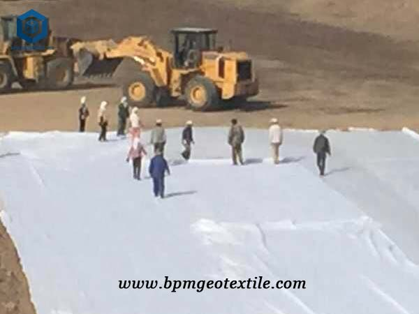 Nonwoven geotextile matereial for mine tailing pond project
