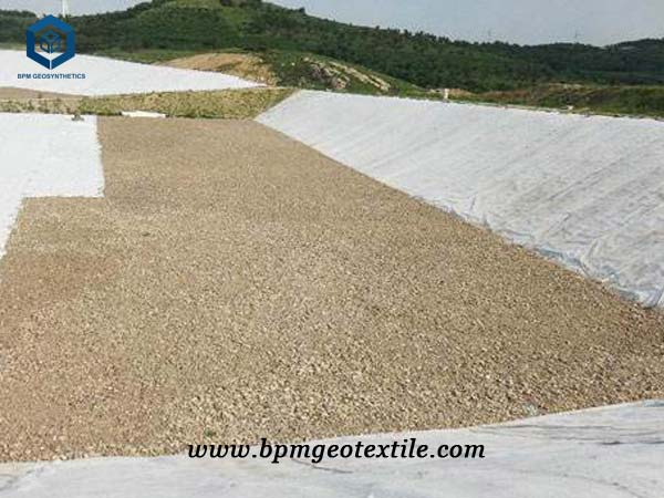 pp nonwoven geotextile for lake protection in Mongolia
