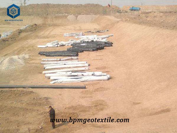 pp nonwoven geotextile for lake protection